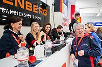 HAMBURG  (Ger) - Laren (Ned) v Waterloo Ducks (Bel). foto:   . Eurohockey Indoor  Club Cup 2019 Women . WORLDSPORTPICS COPYRIGHT  KOEN SUYK