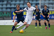 14th September 2019; Dens Park, Dundee, Scotland; Scottish Championship, Dundee Football Club versus Alloa Athletic; Andy Graham of Alloa Athletic and Paul McGowan of Dundee