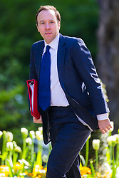 Secretary of State for Culture, Media and Sport Matt Hancock arrives at 10 Downing Street to attend the weekly cabinet meeting.