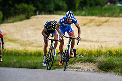 The break on the Gulperberg Marco MINNAARD (BEL, WGG) Stage 3 Buchten - Buchten, Ster ZLM Toer, Buchten, The Netherlands, 20th June 2014, Photo by Thomas van Bracht / Peloton Photos