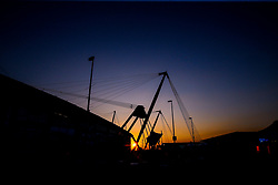 A general view outside the Etihad Stadium, home of Manchester City, as the sun sets  - Mandatory by-line: Robbie Stephenson/JMP - 27/02/2019 - FOOTBALL - Etihad Stadium - Manchester, England - Manchester City v West Ham United - Premier League