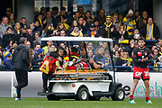 Injury Thibaut Regard to LOU during the French championship Top 14 Rugby Union match between ASM Clermont and Lyon OU on November 18, 2017 at Marcel Michelin stadium in Clermont-Ferrand, France - Photo Romain Biard / Isports / ProSportsImages / DPPI