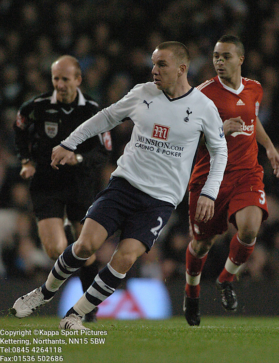 JAMIE O'HARA, TOTTENHAM HOTSPUR, Tottenham Hotspur - Liverpool, Carling Cup White Hart Lane Wednesday 12th November 2008, 12/11/08