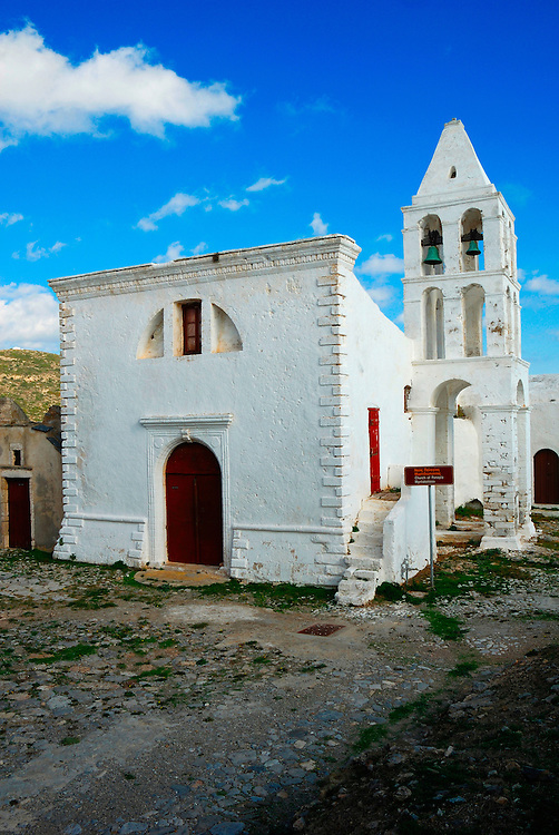 Greece, Peloponnese region, Kythira island, Panagia Mirtidiotissa, an old orthodox church at Hora, the main town on the island.