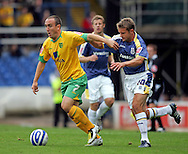 Cardiff - Saturday August 23rd, 2008: Stephen McPhail of Cardiff City and Lee Croft of Norwich City during the Coca Cola Championship match at The Ninian Park, Cardiff. (Pic by Paul Hollands/Focus Images)