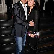 NLD/Amsterdam/20120202 - Lancering vernieuwde Talkies, Wilfred Genee en partner Lili Pirayesh