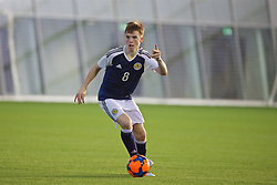 EDINBURGH, SCOTLAND - Sunday, October 30, 2016: Scotland's Marc Leonard in action against Northern Ireland during the opening match of the Under-16 2016 Victory Shield at ORIAM. (Pic by David Rawcliffe/Propaganda)