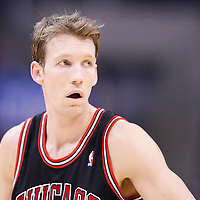 24 November 2013: Chicago Bulls small forward Mike Dunleavy (34) rests during the Los Angeles Clippers 121-82 victory over the Chicago Bulls at the Staples Center, Los Angeles, California, USA.