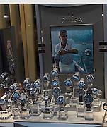 Omega watches shop window display