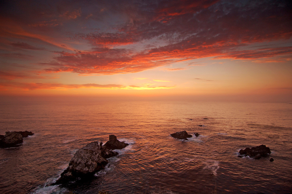 Sea Stacks along Big Sur Coast, Highway 1, Cabrillo Highway, Big Sur, California, United States of America