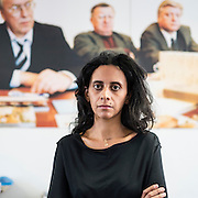 VIENNA, AUSTRIA - SEPTEMBER 13, 2012: President of the Lomographische AG, Sally Bibawy, at her office.