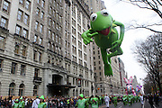 26 November 2009, NY, NY- Kermit The Frog at The 2009 Macy's Day Parade held on November 26, 2009 in New York City. Terrence Jennings/Sipa