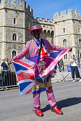 Excitement builds up in Windsor ahead of the royal wedding on Saturday 19th May when HRH Prince Harry weds actress Megan Markle. Windsor, May 17 2018.