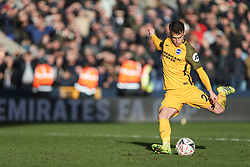 Solly March of Brighton and Hove Albion takes his penalty - Mandatory by-line: Arron Gent/JMP - 17/03/2019 - FOOTBALL - The Den - London, England - Millwall v Brighton and Hove Albion - Emirates FA Cup Quarter Final