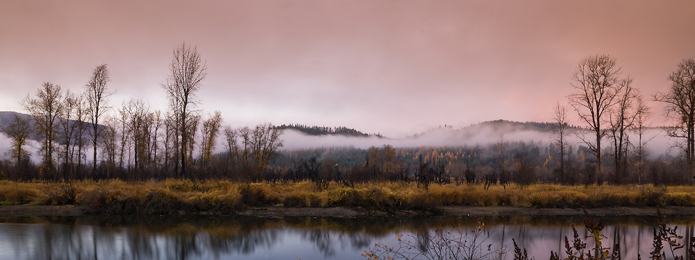 Fog rises from the St. Maries River.