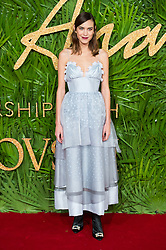 © Licensed to London News Pictures. 04/12/2017. London, UK. ALEXA CHUNG arrives for The Fashion Awards 2017 held at the Royal Albert Hall. Photo credit: Ray Tang/LNP
