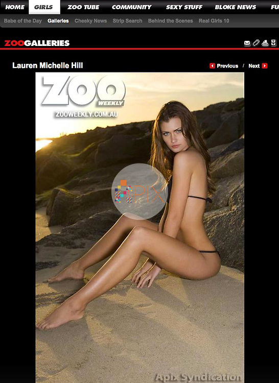 Lauren Michelle Hill is featured in an online gallery for Zoo Weekly Australia | zooweekly.com.au<br />
