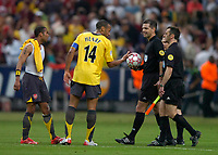 Photo: Richard Lane.<br />Arsenal v Barcelona. UEFA Champions League Final. 17/05/2006.<br />Arsenal's Thierry Henry argues with the match officials.