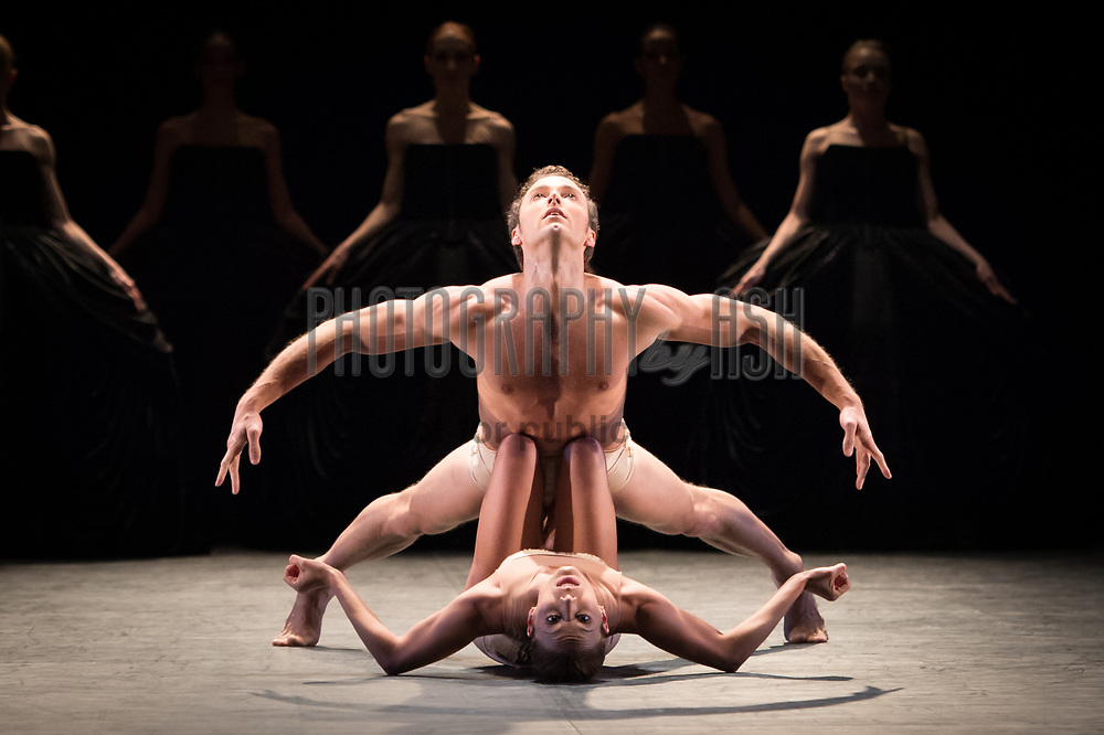Fabian Reimair & Fernanda Oliveira perfoming for English National Ballet in 'Ecstasy & Death' Dress Rehearsal at Coliseum Theatre, London on April 17 2013. Photo: Arnaud Stephenson