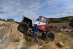 October 27, 2018 - Las Cuevas, Soria, Spain - A 4x4 car takes part in the 'VI Extremo Las Cuevas 4x4' racing near of the small village of 'Las Cuevas', north of Spain. (Credit Image: © Jorge Sanz/Pacific Press via ZUMA Wire)