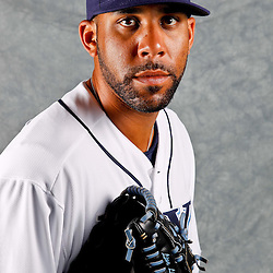 February 29, 2012; Port Charlotte, FL, USA; Tampa Bay Rays starting pitcher David Price (14) poses for a portrait during photo day at Charlotte Sports Park.  Mandatory Credit: Derick E. Hingle-US PRESSWIRE