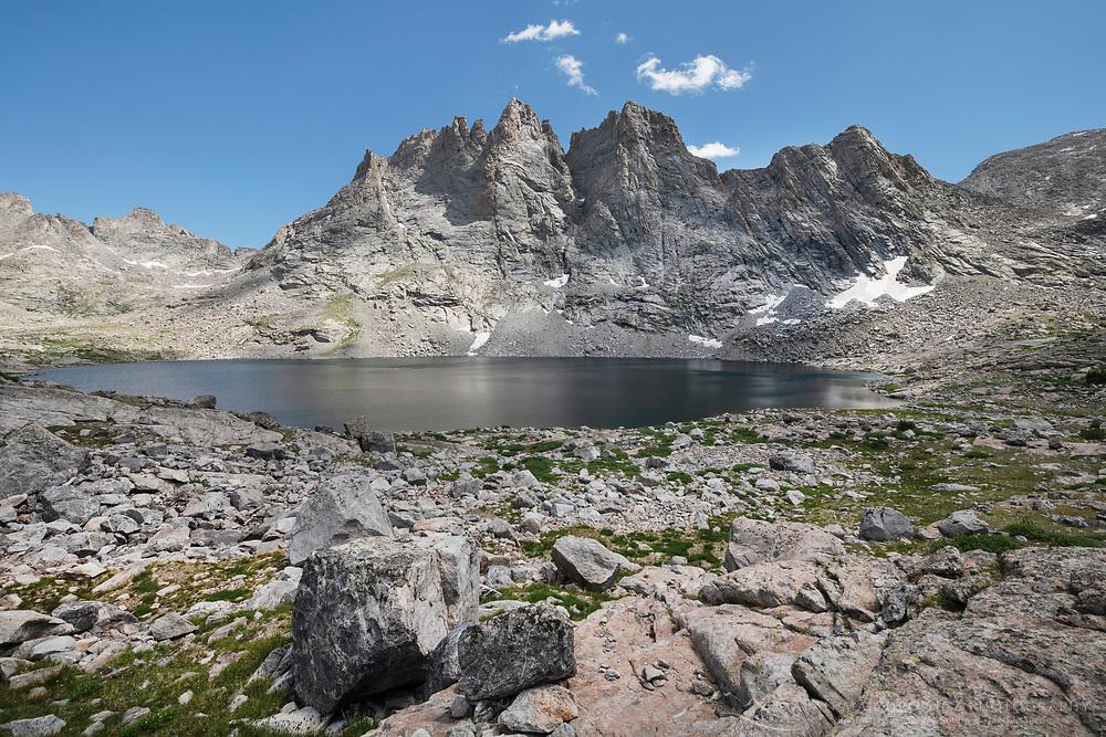 Mount  Bonneville and Bonneville Lake. Bridger Wilderness, Wind River Range Wyoming