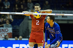 08.01.2016, Max Schmeling Halle, Berlin, GER, CEV Olympia Qualifikation, Frankreich vs Bulgarien, im Bild Je?nia?Grebennikv (#2, Frankreich/France) aergert sicho // during 2016 CEV Volleyball European Olympic Qualification Match between France and Bulgaria at the  Max Schmeling Halle in Berlin, Germany on 2016/01/08. EXPA Pictures © 2016, PhotoCredit: EXPA/ Eibner-Pressefoto/ Wuechner<br /> <br /> *****ATTENTION - OUT of GER*****