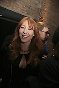 Charlotte Tilbury, Pop Magazine, 15th issue birthday party. Spring Studios Gallery, Spring Place, London, NW5 15 February 2007.  -DO NOT ARCHIVE-© Copyright Photograph by Dafydd Jones. 248 Clapham Rd. London SW9 0PZ. Tel 0207 820 0771. www.dafjones.com.