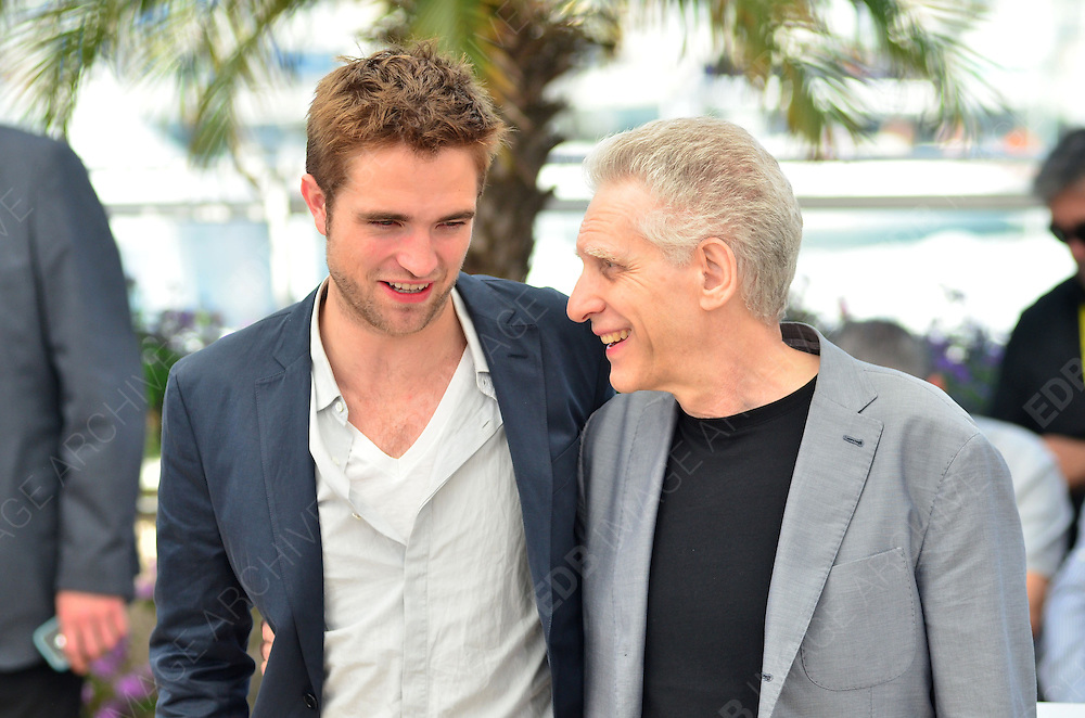 25.MAY.2012. CANNES<br /> <br /> ROBERT PATTINSON AND DAVID CRONENBERG AT THE COSMOPOLIS PHOTOCALL DURING THE 65TH CANNES FILM FESTIVAL, CANNES, FRANCE.<br /> <br /> BYLINE: JOE ALVAREZ/EDBIMAGEARCHIVE.CO.UK<br /> <br /> *THIS IMAGE IS STRICTLY FOR UK NEWSPAPERS AND MAGAZINES ONLY*<br /> *FOR WORLD WIDE SALES AND WEB USE PLEASE CONTACT EDBIMAGEARCHIVE - 0208 954 5968*