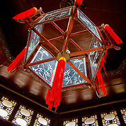 Traditional Chinese lantern inside Celestial Spring Pavilion (Suzhou, China - Sep. 2008) (Image ID: 080926-1306112a)
