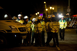 © under license to London News Pictures.  11/11/2010, Residents are evacuated after builders find an unexploded bomb in Plymouth city centre.