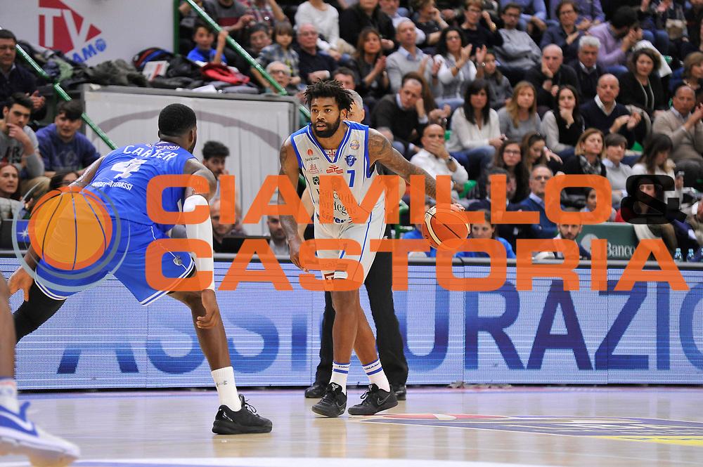 Travor Lacey<br /> Banco di Sardegna Dinamo Sassari - Enel New Basket Brindisi<br /> LegaBasket Serie A LBA Poste Mobile 2016/2017<br /> Sassari 02/04/2017<br /> Foto Ciamillo-Castoria