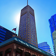 """""""Glory of Foshay""""<br /> <br /> The historic Foshay Tower with the bright morning sun behind her!<br /> <br /> Cities and Skyscrapers by Rachel Cohen"""