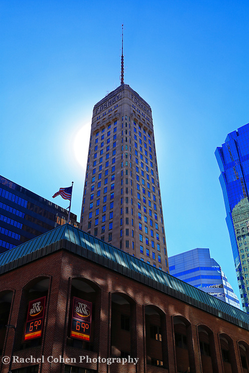&quot;Glory of Foshay&quot;<br /> <br /> The historic Foshay Tower with the bright morning sun behind her!<br /> <br /> Cities and Skyscrapers by Rachel Cohen