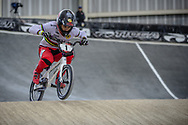 #1 (ANDRE Sylvain) FRA at Round 2 of the 2019 UCI BMX Supercross World Cup in Manchester, Great Britain
