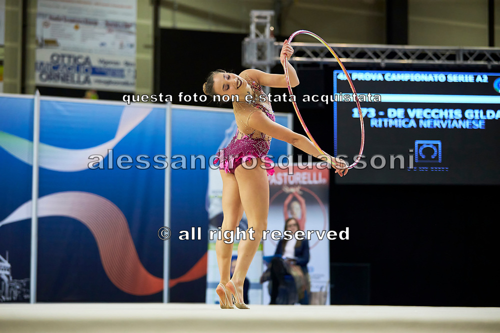 Gilda De Vecchis from Nervianese team during the Italian Rhythmic Gymnastics Championship in Padova, 25 November 2017.