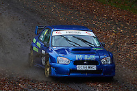 #6 David Turnbull / Simon John Rogers Subaru Imprezza WRC S11York and District MC / Broughton-Bretton MC during Neil Howard Memorial Stage Rally, and opening round of the 2015 Motorsport News Rally Championship.  at Oulton Park, Little Budworth, Cheshire, United Kingdom. November 07 2015. World Copyright Peter Taylor. Copy of publication required for printed pictures.  Every used picture is fee-liable. http://archive.petertaylor-photographic.co.uk