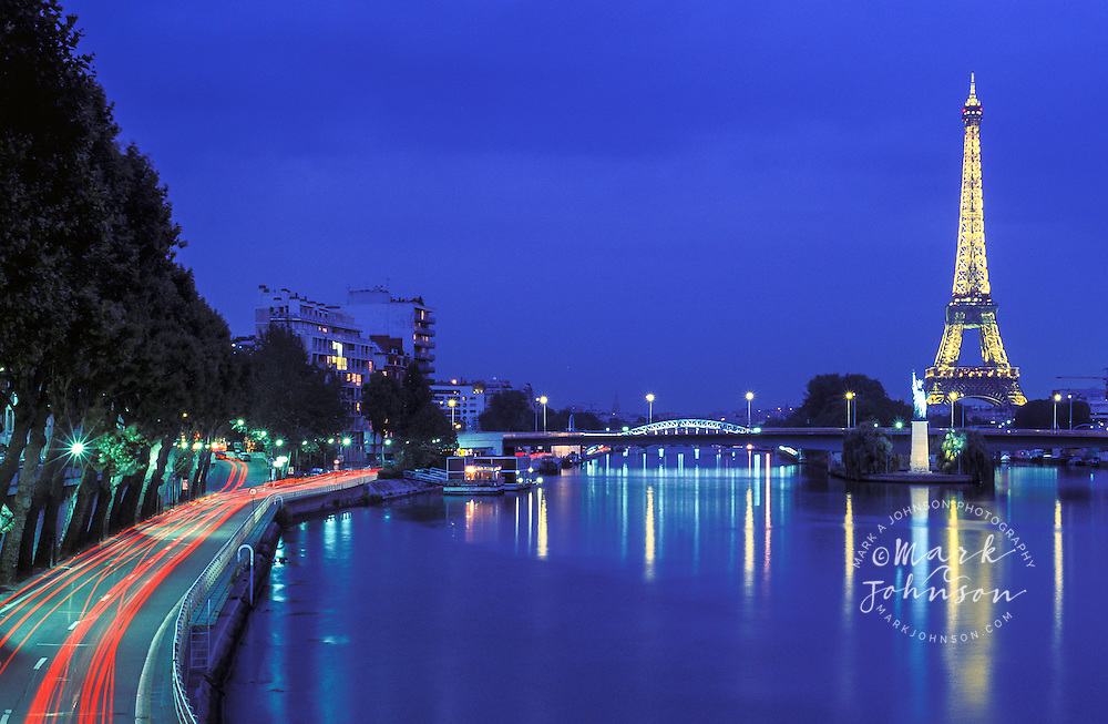 River Seine & Eiffel Tower, Paris, France