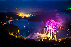"""Fireworks at Donner Lake 5"" - Photograph of the July 4th, 2019 fireworks show above Donner Lake in Truckee, California."