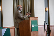 VP and Provost Chaden Djalali speaks at the The 26th Annual Classified Staff  Service Award Ceremony.  Photo by Ben Siegel