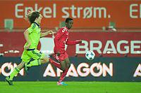Fotball<br /> 30. September 2015<br /> UEFA YOUTH LEAUGE<br /> Brann Stadion<br /> Brann - Anderlecht<br /> Wout Faes (L) , Anderlecht<br /> Ahmed Omar (R) , Brann<br /> Foto: Astrid M. Nordhaug