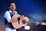 Frank Turner performs live on the Main Stage during day three of Reading Festival 2011 on August 28, 2011 in Reading, England.  (Photo by Simone Joyner)
