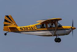 American Champion Aircraft Citabria 7ECA (N383AC) on approach to Palo Alto Airport (KPAO), Palo Alto, California, United States of America