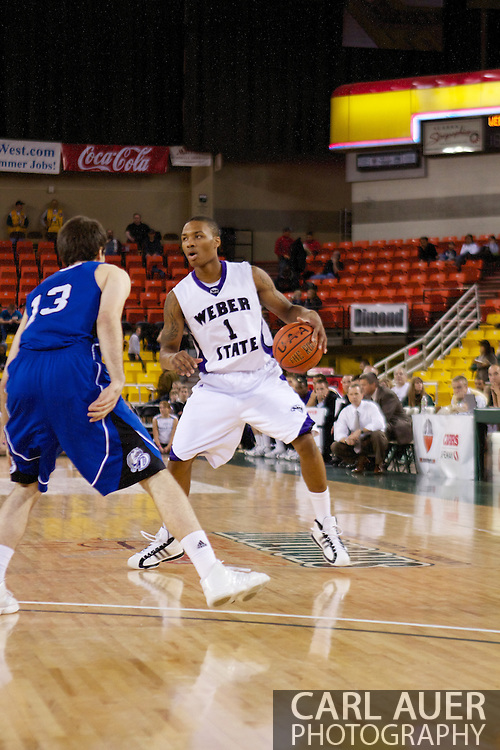 November 27th, 2010:  Anchorage, Alaska - Weber State junior guard Damian Lillard (1) in the Wildcats 82-81 victory over the Drake Bulldogs in the third place game of the Great Alaska Shootout.