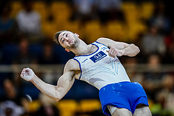 November 2, 2018 - Doha, Qatar - Artem Dolgopyat of  Israel   during  Floor for Men at the Aspire Dome in Doha, Qatar, Artistic FIG Gymnastics World Championships on 2 of November 2018. (Credit Image: © Ulrik Pedersen/NurPhoto via ZUMA Press)