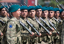 © licensed to London News Pictures. ANKARA, TURKEY  30/08/11. Turkish NATO soldiers at the 30th August Turkish Victory Day celebrations in capital Ankara. Please see special instructions for usage rates. Photo credit should read TOLGA AKMEN/LNP
