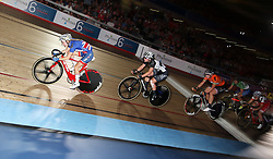 Great Britain's Elinor Barker in the Women's 20km Madison during day six of the Six Day Series at Lee Valley Velopark, London.
