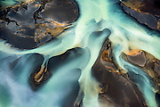 Iceland's Ölfusá River flows towards the Atlantic, July, 2014.
