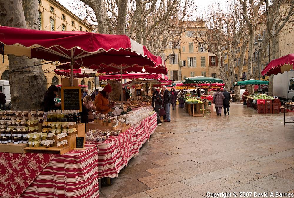 France, Provence, Bouches du Rhone, Aix en Provence, market place