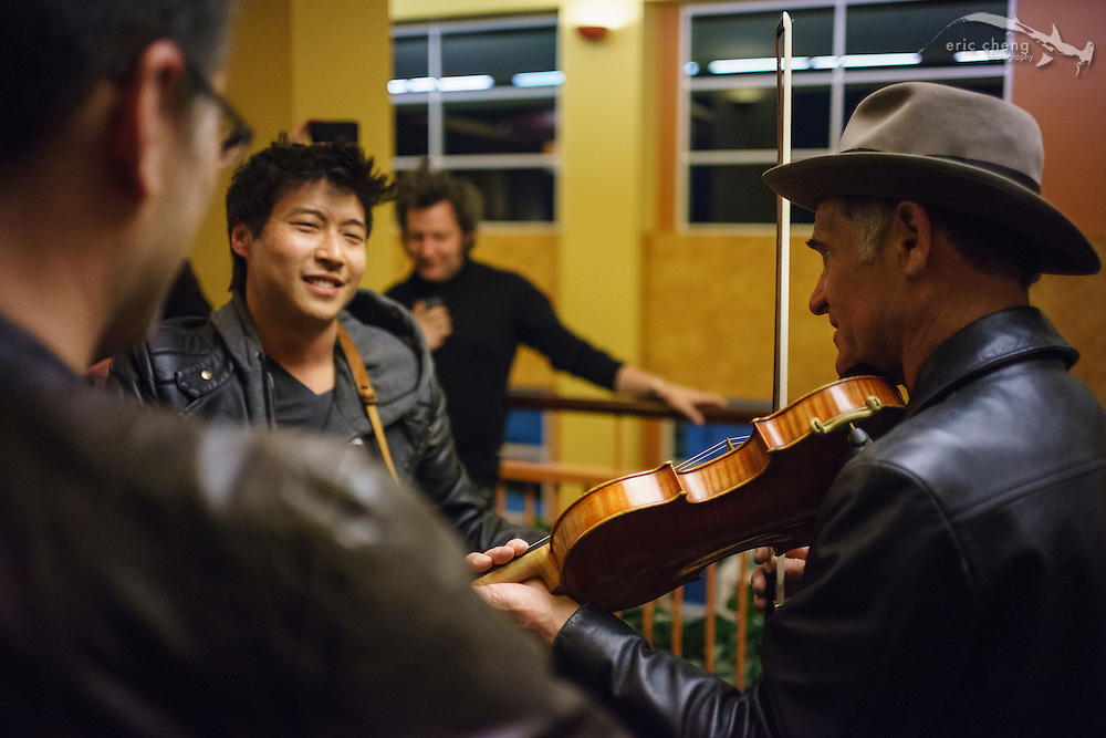 Late-night jamming with Charles Yang, Danny Ferrington and others #egconf #eg8